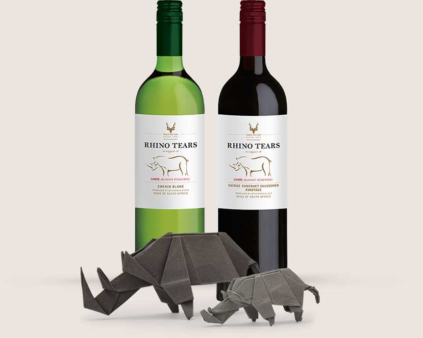 Rhino Tears wine purchases contribute to anti-poaching initiatives .