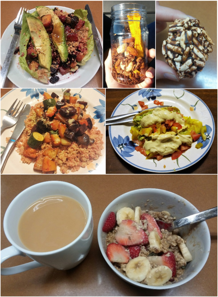Vegan Food Collage